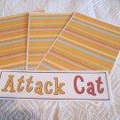 Attack Cat - 4pc Mat Set