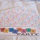 Birthday Party 1 - 4pc Mat Set