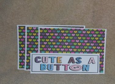 Cute As A Button - 4pc Mat Set