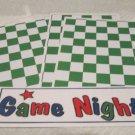 Game Night - 4pc Mat Set
