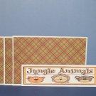 Jungle Animals - 4pc Mat Set