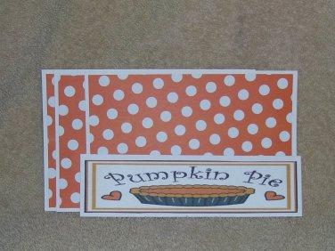 Pumpkin Pie - 4pc Mat Set