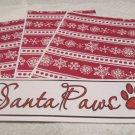 Santa Paws  - 4pc Mat Set
