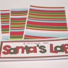 Sitting On Santa's Lap- 4pc Mat Set
