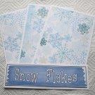 Snow flakes  - 4pc Mat Set
