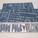 Snow Folk Welcome - 4pc Mat Set
