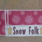 Snow Folk  - 4pc Mat Set