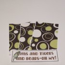 Lions and Tigers and Bears - 4pc Mat Set