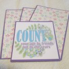 Count Your Age By Friends - Title/Saying Mat Set