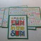 Fun In The Sun - Title/Saying Mat Set