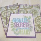 Giggle Secrets and Sometime Tears - Title/Saying Mat Set