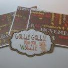 Gobble Gobble Until You Wobble - Title/Saying Mat Set