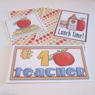 #1 Teacher a - 5 piece mat set