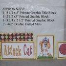 Attack Cat - 5 piece mat set
