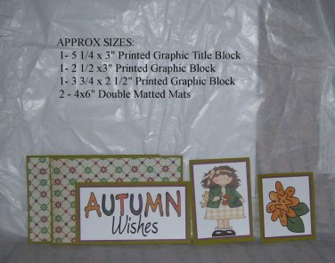 Autumn Wishes Girl - 5 piece mat set