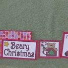 Beary Christmas Stocking - 5 piece mat set
