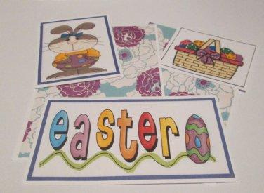 Easter Bunny Girl - 5 piece mat set
