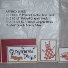 Gingerbread Magic Apron - 5 piece mat set