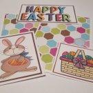 Happy Easter Boy Bunny - 5 piece mat set