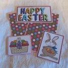 Happy Easter Bunny Boy a - 5 piece mat set