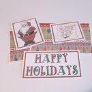 Happy Holidays Santa a - 5 piece mat set