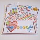 I Love Trains - 5 piece mat set