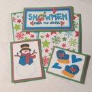 Snowmen Melt My Heart 2 - 5 piece mat set