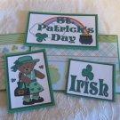 St Patrick's Day Girl b - 5 piece mat set