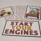 Start Your Engine a - 5 piece mat set