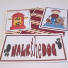 Walk The Dog Boy a  - 5 piece mat set