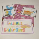 Breakfast w/The Easter Bunny Boy - 5 piece mat set