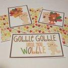 Gobble Gobble Until You Wobble - 5 piece mat set