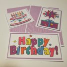 Happy Birthday Purple 1 - 5 piece mat set