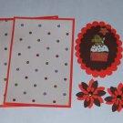 Gingerbread Cupcake - 5 pc Embellishment Set