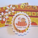Happy Fall Ghost and Scarecrow a - 5 pc Embellishment Set
