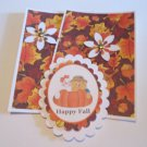 Happy Fall Ghost and Scarecrow b - 5 pc Embellishment Set