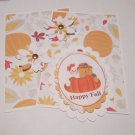 Happy Fall Ghost and Scarecrow - 5 pc Embellishment Set