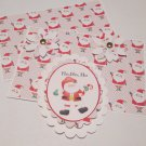 Ho Ho Ho Santa km - 5 pc Embellishment Set