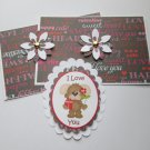 I Love You Puppy - 5 pc Embellishment Set