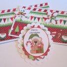 Merry Christmas Bear - 5 pc Embellishment Set