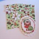 Merry Christmas Ornament Girl a - 5 pc Embellishment Set