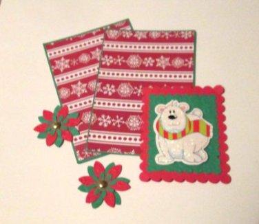 Polar Bear Glittered - 5 pc Embellishment Set