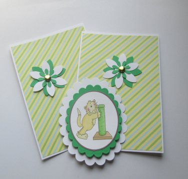 Scratching Post Kitty - 5 pc Embellishment Set