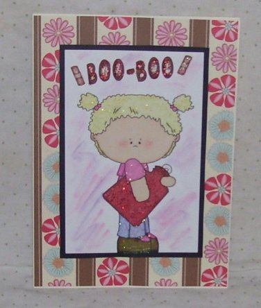 """Boo Boo Girl - 5x7"""" Greeting Card with envelope"""