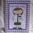"""Get Well Soon 1 Doctor - 5x7"""" Greeting Card with envelope"""