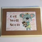 "Get Well Soon Koala - 5x7"" Greeting Card with envelope"