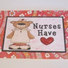 "Nurses Have Heart - 5x7"" Greeting Card with envelope"