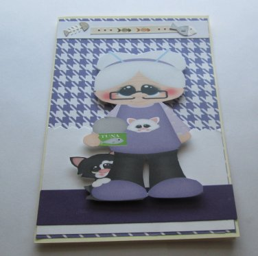 """I Love My Cats - 5x7"""" Greeting Card and envelope"""