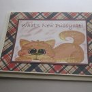 """What's New Pussycat - 5x7"""" Greeting Card with envelope"""