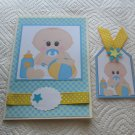 """Baby Boy 1 - 5x7"""" Greeting Card with Matching Tag and envelope"""